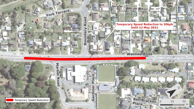 2021 Waimea Boundary Market Roads Notice of Temporary Works