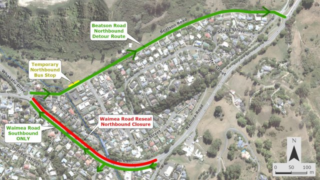 2021 Waimea Road Resurface and Detour Comms