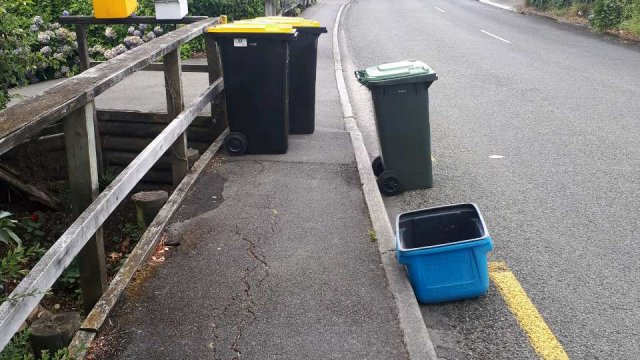 Bins on footpaths