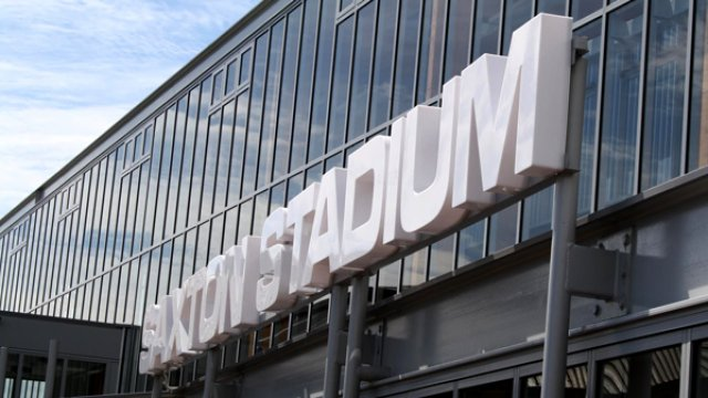Saxton Stadium sign