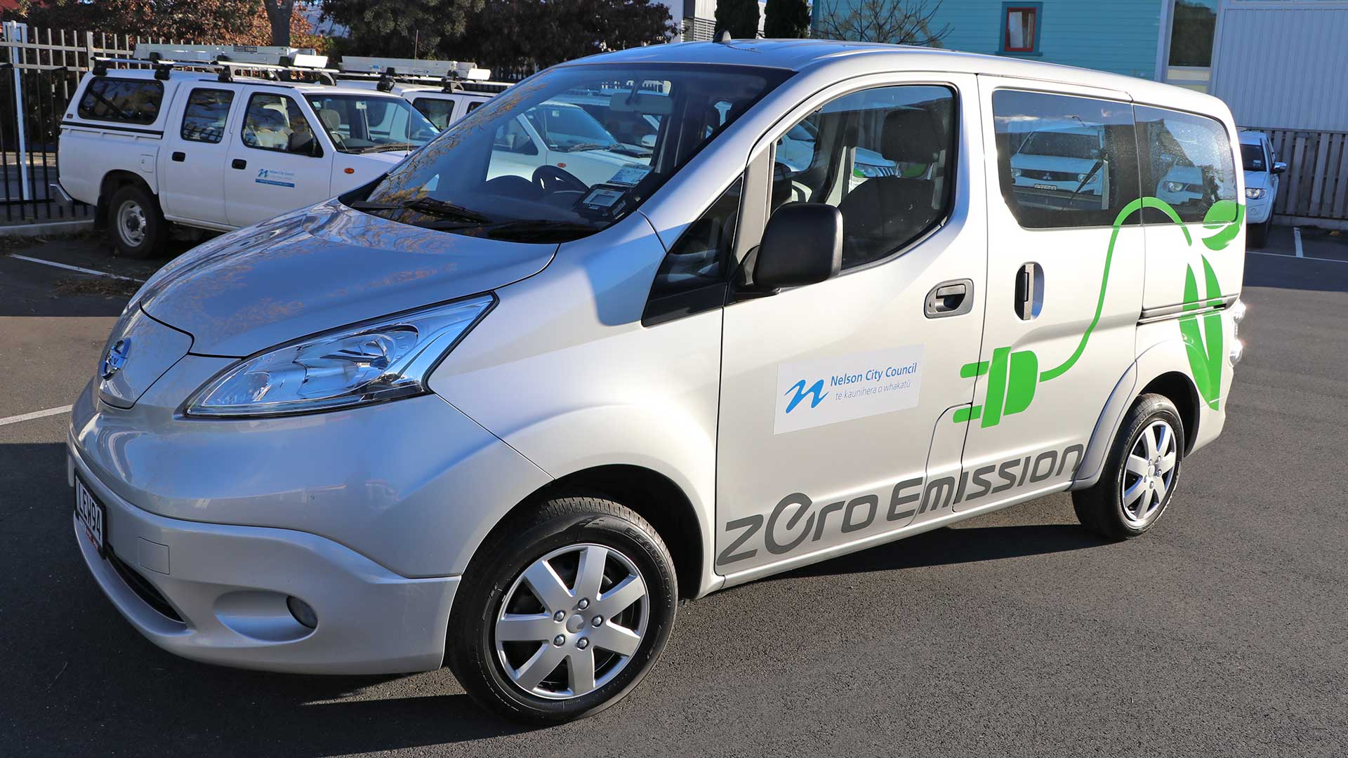 The first of Council's two Nissan e-NV200 vans all ready to go!
