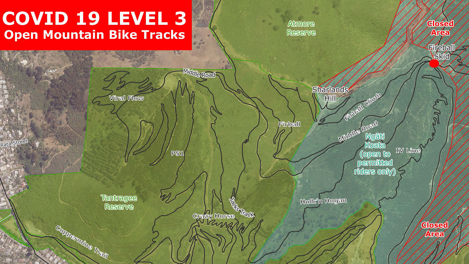 Some trails in Nelson will be open for mountain biking from midday on  Tuesday 28 April